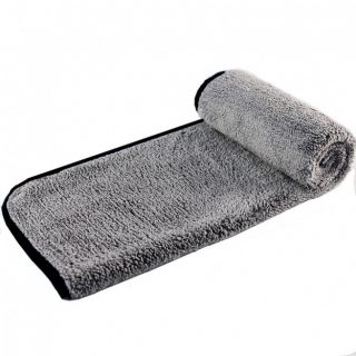 Grey Microfibre Towel With Black Edging-0