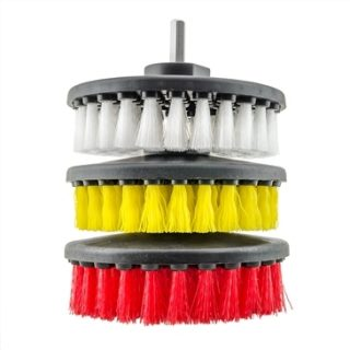 CHEMICAL GUYS CARPET BRUSH WITH DRILL ATTACHMENT LIGHT/MEDIUM/HEAVY DUTY 3PK KIT-0